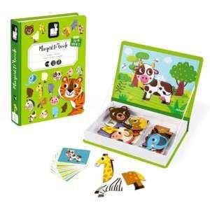 Gioco 3-8+ Janod Maneti'Book Animali 40pz