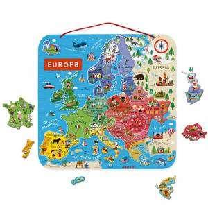 Gioco 7+ Janod Mappa Magnetica Europa in Legno