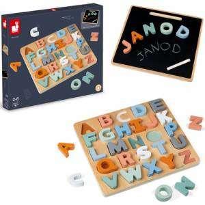 Gioco 2-6+ Janod Puzzle Alfabeto in Legno