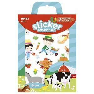 Stickers Attacca/Stacca +3 Apli Kids c/Scenario Farm