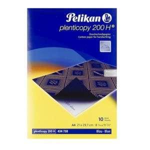 Carta Carbone A4 Pelikan Plenticopy 200 H Blu 10fg