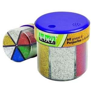 Glitter Porporina 60gr in 6 Colori Lebez