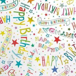 Carta Regalo 70x100cm Happy Birthday