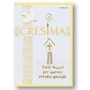 Biglietto Cresima 12x18cm Portasoldi
