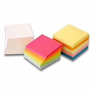 Blocco Note Cubo 9x9cm Colorato