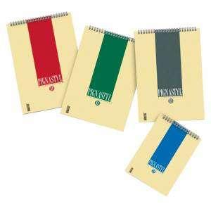 Blocco Note c/Spirale 21x29,7cm Quad. 5mm Pignastyl