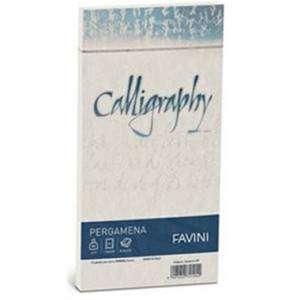 Buste 11x22cm 25pz Favini Calligraphy Pergamena Naturale