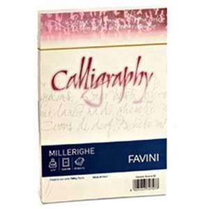 BUSTA 12x18cm FAVINI CALLIGRAPHY MILLERIGHE AVORIO 25pz