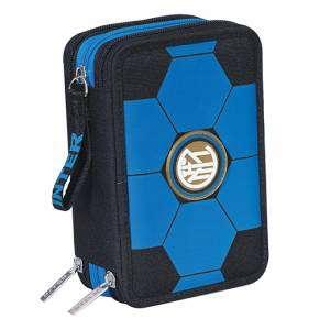 Astuccio 3 Zip Seven Inter Blue'N'Black