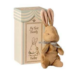 My First Bunny in Box Maileg Azzurro