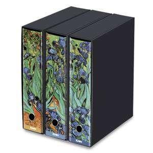 Registratore 2 Anelli 29x35x8cm c/scatola Set 3pz Kaos Van Gogh/Iris
