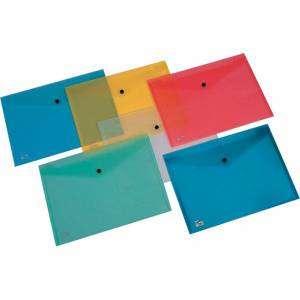 Busta Bottone 33x23,5cm A4 Trasparente Blu