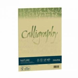 Carta A4 250gr  50fg Favini Calligraphy Nature Oliva