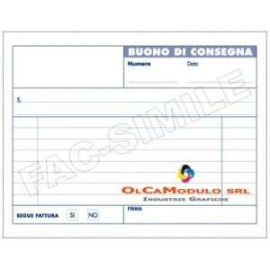 Buoni Consegna 15x10cm 50fg 2 Copie Carta Chimica