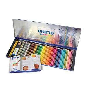 Matite Colorate Giotto Supermina Box Metallo 46pz + Accessori