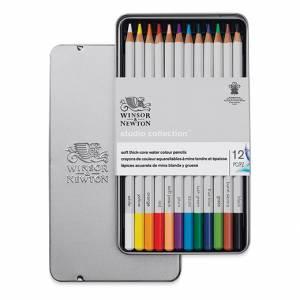 Matite Colorate Acquerello Winsor&Newton Studio Collection Box Metallo 12pz