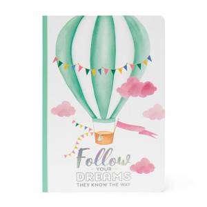 Quaderno 15x21cm  80pag Legami Righe Air Balloon