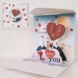 Biglietto Abbracci Love Balloon 12x12cm