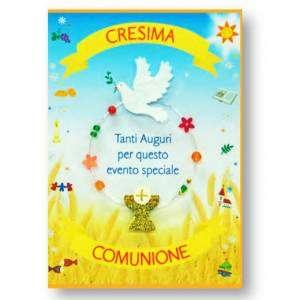 Biglietto Comunione & Cresima 12x18cm