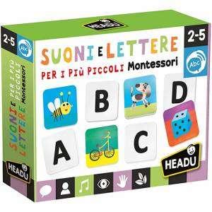 Gioco 2-5+ Headu Suoni e Lettere Per i più Piccoli Montessori