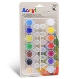 Colori Acrilici CMP 4,5ml X 14 Colori Fini