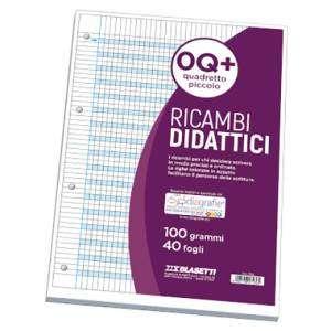 Ricambio Forato Didattico c/Rinforzo A4 100gr Quad. Q+