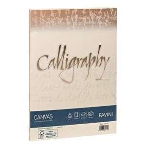 CARTA 21x29,7cm FAVINI CALLIGRAPHY CANVAS AVORIO 50fg 100gr