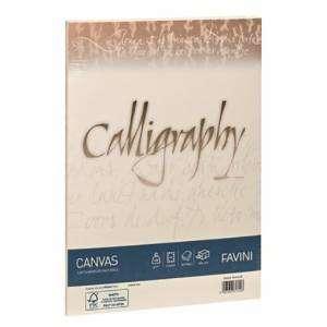 CARTA 21x29,7cm FAVINI CALLIGRAPHY CANVAS AVORIO 50fg 200gr