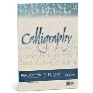 Carta A4  90gr  50fg Favini Calligraphy Pergamena Naturale