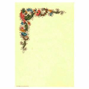 Carta Pergamena 17x24cm 160gr 1fg Avorio c/Disegno Rossi