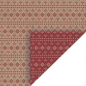 CARTA REGALO NATALE - FOGLIO 70x100cm - SCANDINAVIAN RED XMAS DOUBLE FACE