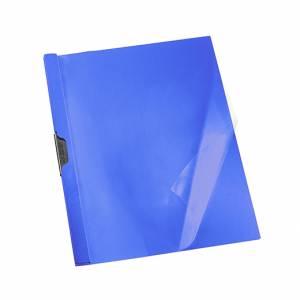 CARTELLETTA IN PLASTICA CON CLIP ESSELTE DORSO 5mm BLU