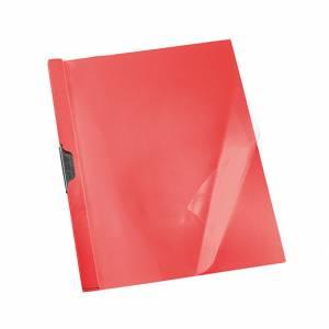 CARTELLETTA IN PLASTICA CON CLIP ESSELTE DORSO 5mm ROSSO