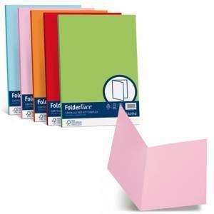 Cartelline Semplici 25x34cm Cartoncino 200gr Favini Simplex FolderLuce 50pz Assortite