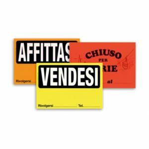 CARTELLO FLUORESCENTE CHIUSO PER FERIE 32x22cm