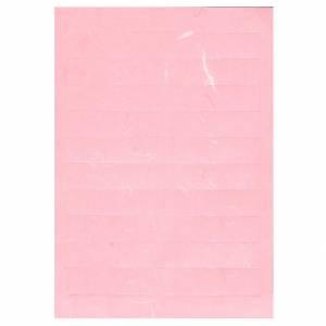 PortaNome Bomboniera 20pz su A4 Carta Gelso Rosa
