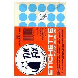 ETICHETTE ADESIVE CARTA ROTONDE DIAM.18mm-420pz-BLU