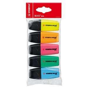 Evidenziatore Stabilo Boss-Mini 5 colori
