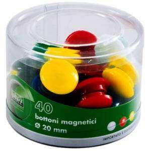 Magnete Bottone Diam.20mm 40pz Lebez