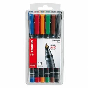 Marcatore Permanente Stabilo OhPen Fine 6 colori