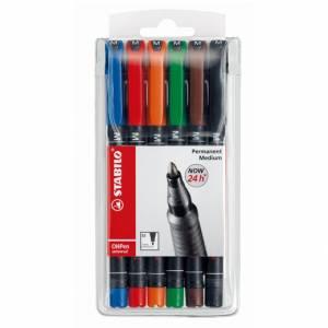 Marcatore Permanente Stabilo OhPen Medio 6 colori