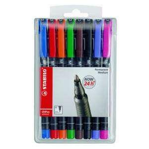 Marcatore Permanente Stabilo OhPen Medio 8 colori