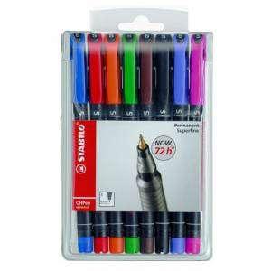 Marcatore Permanente Stabilo OhPen Superfine 8 colori