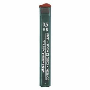 MINE 0.5mm HB FABER CASTELL 12mine GRAFITE