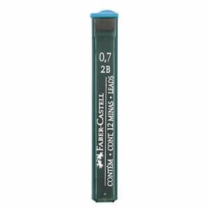 MINE 0.7mm 2B FABER CASTELL 12mine GRAFITE