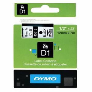 NASTRO DYMO D1 mm12x7m-45013-NERO SU BIANCO