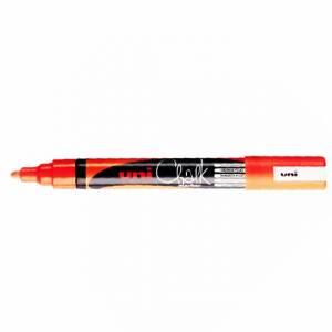 Marcatore Gesso Liquido Uni Chalk Arancione Fluo
