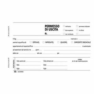 PERMESSI D'USCITA 17x10cm 50fg CARTA CHIMICA 2 COPIE