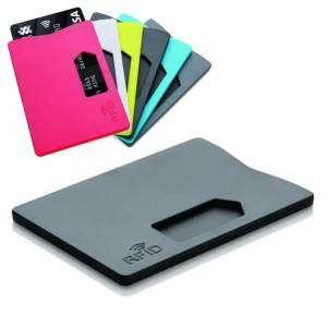 Porta Carte Credito x1 RFID Nero