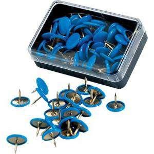 Puntine Plastificate 50pz Leone Blu